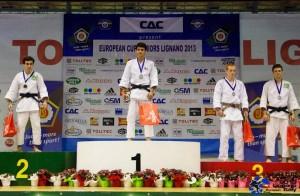 Lignano 2013, juniors -55kg, Mathieu 3ème